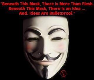 Go HERE, To Watch and Listen To V's, (Programing Interrupted) Televised Speech. (From The Film: 'V for Vendetta')