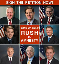 "Sign The Petition To Oppose The ""Gang of 8"" Immigration Bill"